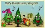 Funny Happy Xmas Brushes