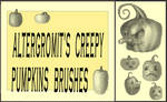 Creepy Pumpkins Brushes