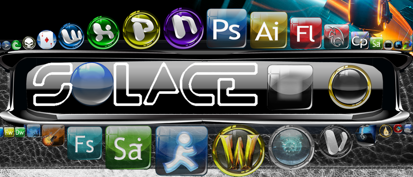 Solace Icons III Tron Theme by quicksilver20