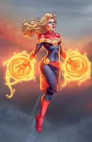 Captain Marvel Takes Flight by JamieFayX