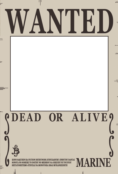 One Piece Wanted Poster Preset