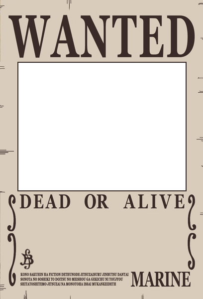 One Piece Wanted Poster Preset by Akuma-no-mi-bu on DeviantArt