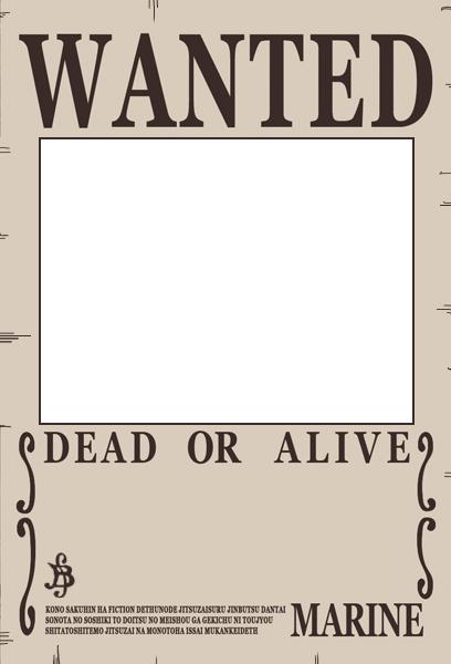One Piece Wanted Poster Preset by Akuma-no-mi-bu