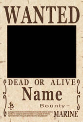 One Piece Wanted Poster psd by Akuma-no-mi-bu
