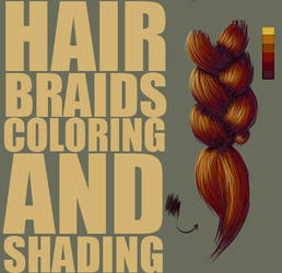 Hair Braids, Coloring and Shading Tutorial