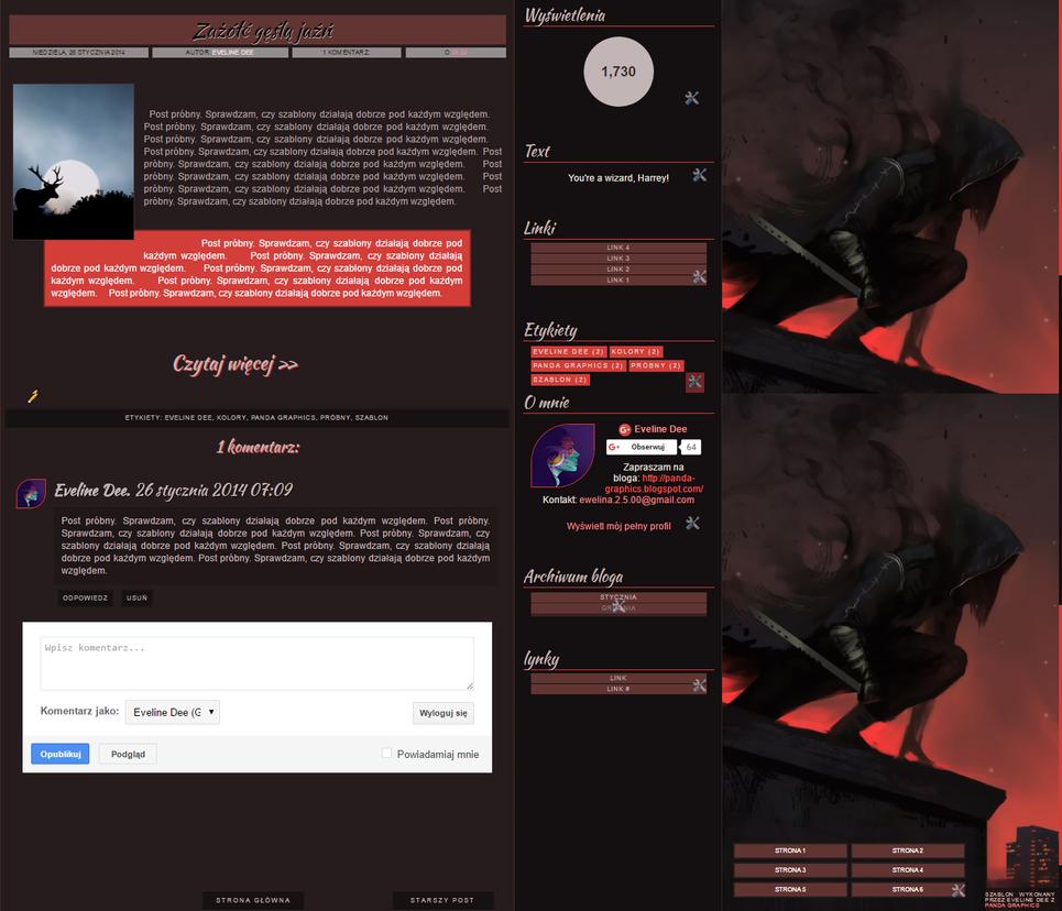 Template Dark by EvelineDee1232