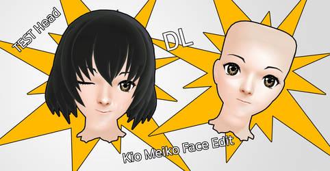 [DL] Kio Meiko Face Edit [MMD] by KartKast