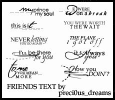 Friends Text Brushes by preci0us-dreams