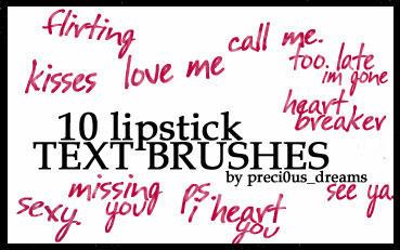 10 Lipstick Text Brushes