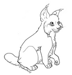 Lynx lineart free use