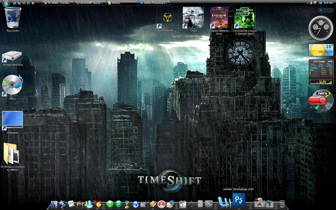 rk 3d windows live theme by x986123 on deviantart