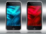 iPhone iTouch Red Cyan Waves