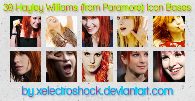 30 Hayley Williams Icon Bases by xelectroshock