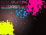Retro Splatter Brushes By PXV
