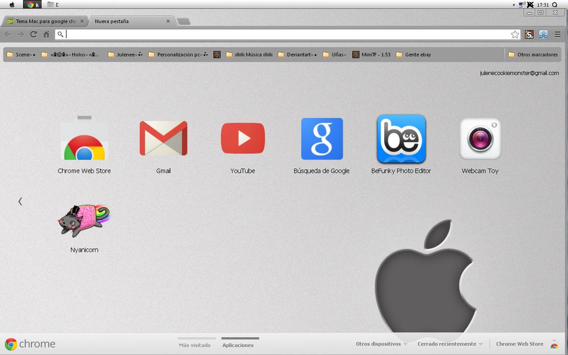 Google themes mac - Tema Mac Para Google Chrome Julenerumbo By Julenerumbo