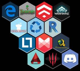 My inspired Honeycomb icons  v3
