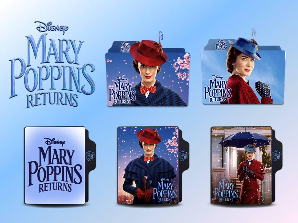 Mary Poppins Returns 2018 Movie Folder Icon Pack By Vardhan30 On Deviantart