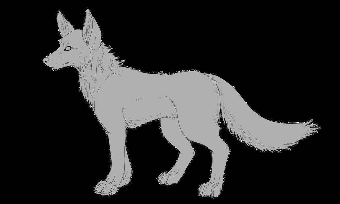 Wolf Lineart : Wolf base f u by popolis on deviantart