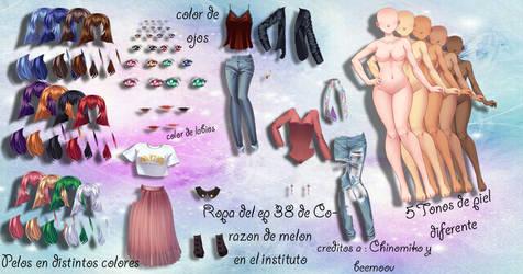 Pack de sucrette(university life)Ropa ep 38 by Princesalil