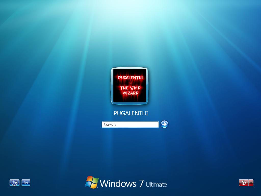 Windows 7 Login Screen...