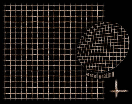 Metal grating texture -tiled