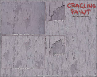 Crackling paint -tiled