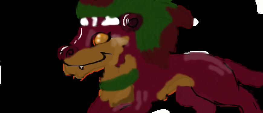 Magenta wolf by ArtisticPermissionn