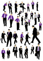 Businessman silhouette by parka