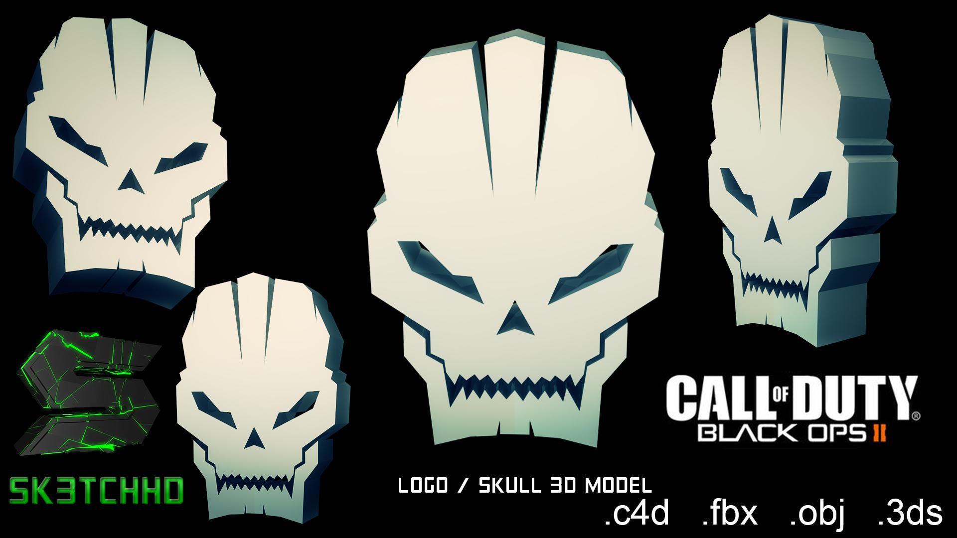 Call Of Duty Black Ops 2 Skull 3d Model By Sk3tchhd On Deviantart