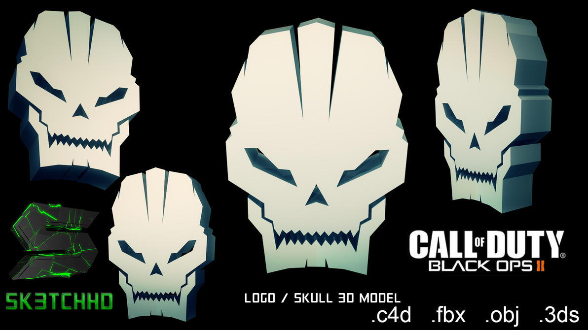 Call Of Duty Black Ops 2 Skull 3D Model By Sk3tchhd