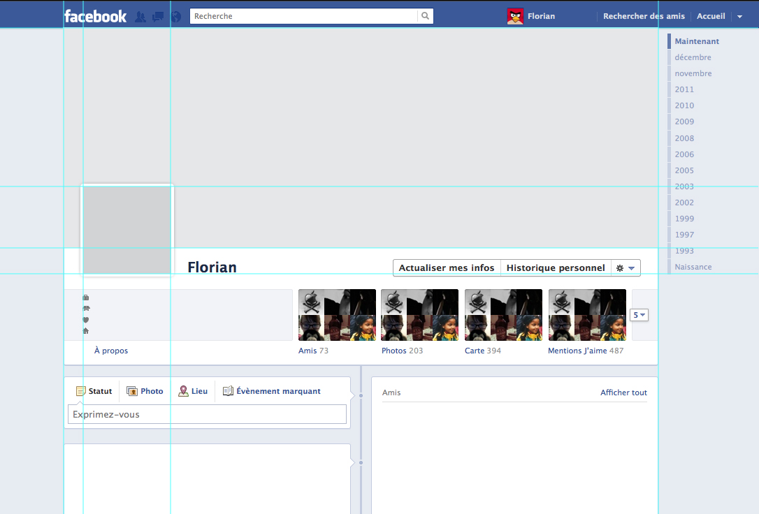 Template Facebook Timeline By Nasrian On Deviantart