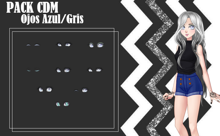 CDM Pack -Ojos Azul/Gris by Yujanitzy