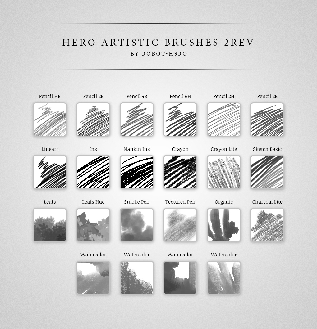 Hero Artistic Brushes Photoshop 2Rev