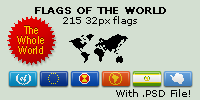 Whole World Pixel-Flags by Jannomag