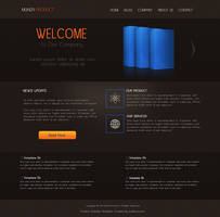 Free Psd Product Website Template by muhiza