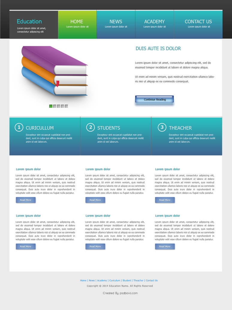 Education Web Desain by muhiza