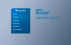 Blue Vertical Menu by muhiza