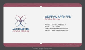 Clean Creative Business Card by muhiza