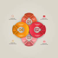 Creative Round Infographic by muhiza