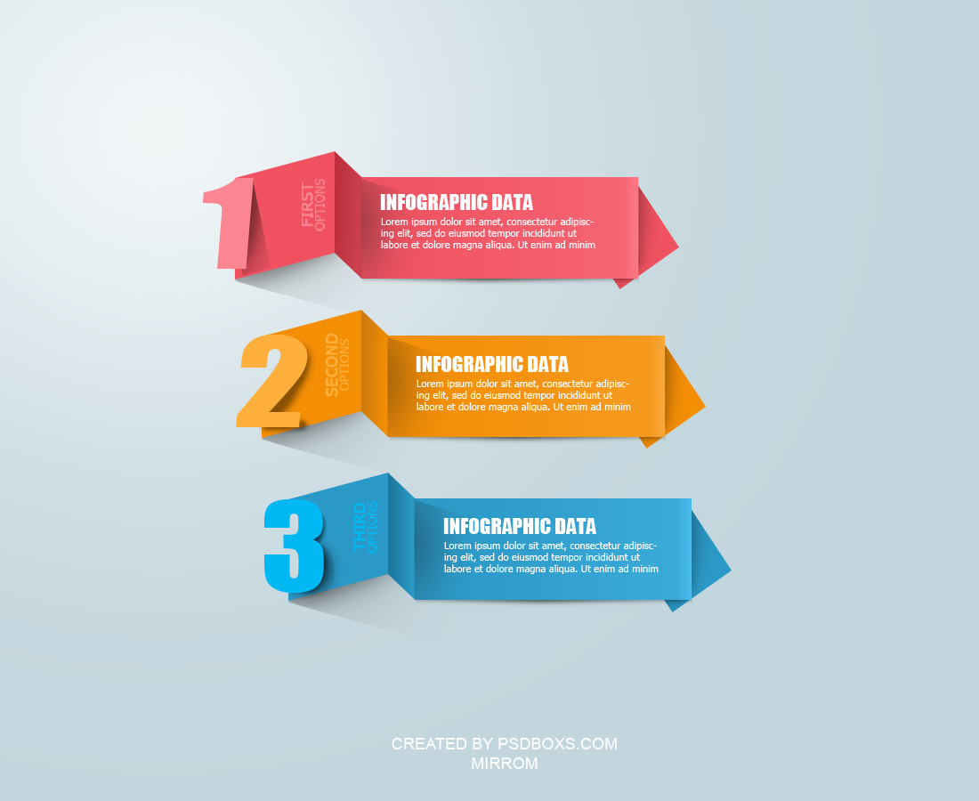 Free PSD Modern Infographic Origami