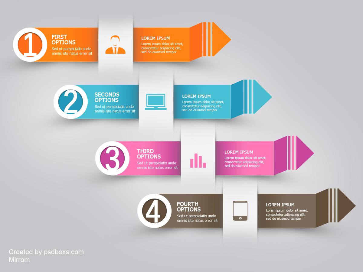 Free PSD Infographic Modern Arrow
