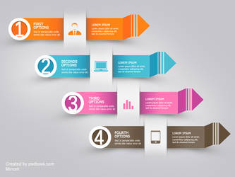 Free PSD Infographic Modern Arrow by muhiza