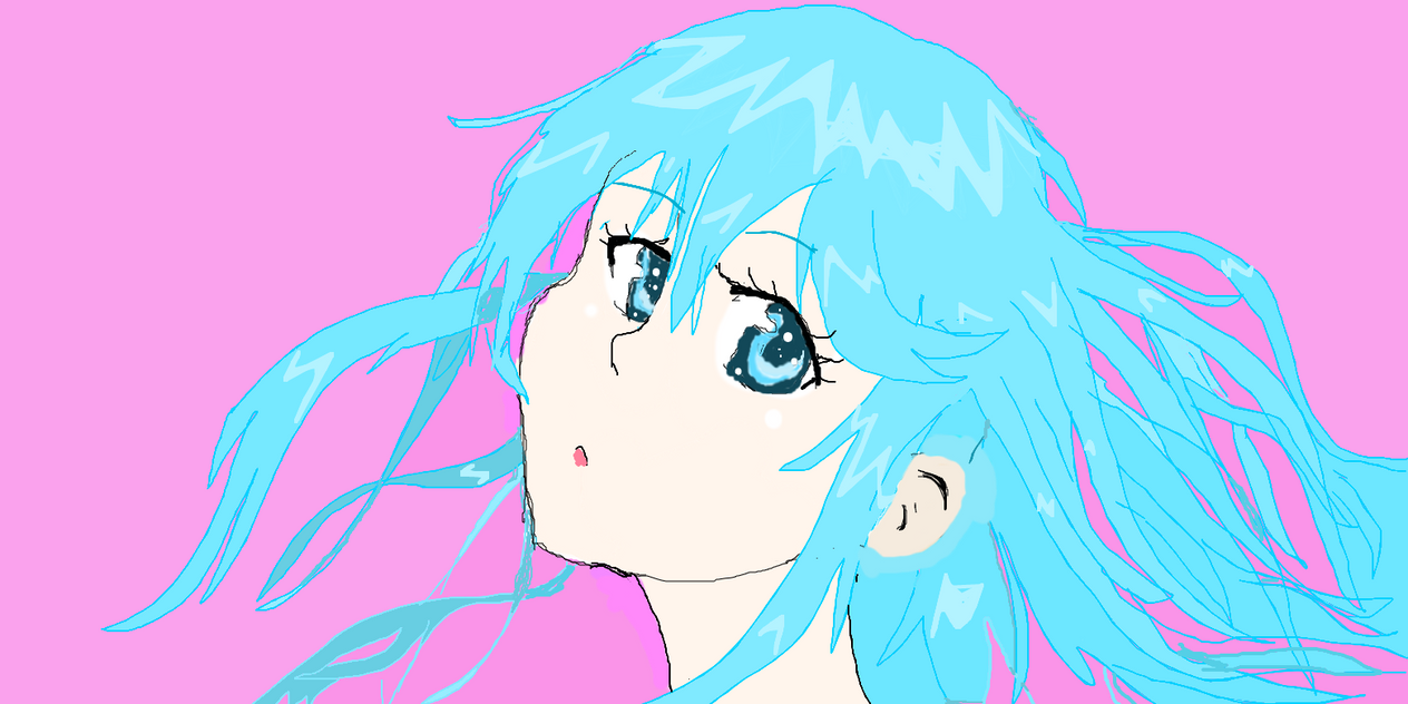 cute blue hair anime girlmuslimahon12 on deviantart