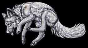 Dancing Wolf Lineart