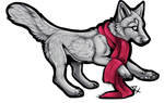 Scarf Wolf Free Lines