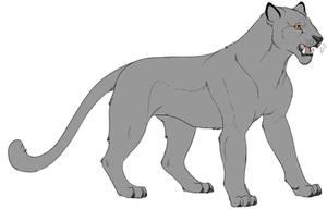 F2U - Big Cat - Lineart by Trash-Klng