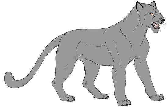 F2U - Big Cat - Lineart