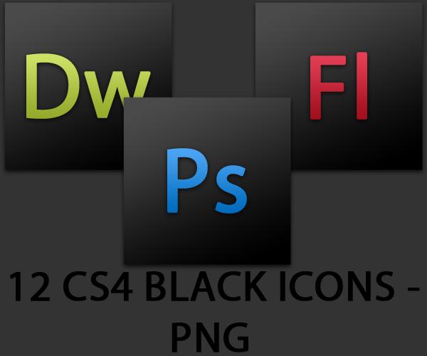 CS4 Black Icons Collection