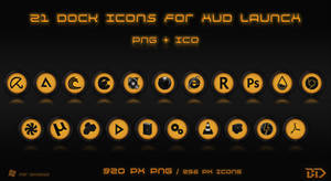 Dock Icons for HUD Launch theme by 9LWANE
