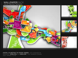 Digital 3D-Abstract-Pack by MadPotato